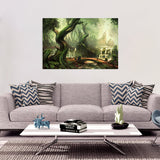 Ancient Forest Rectangular Canvas