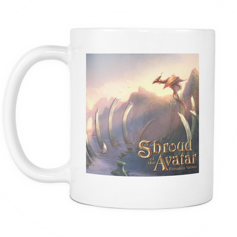 Dragon by the Sea White Mug