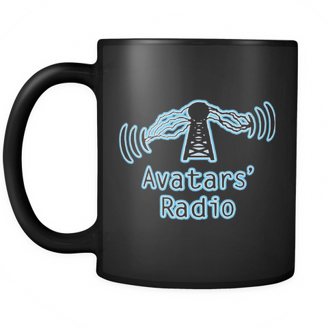 Avatars' Radio Black Mug