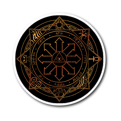"Fiery Magic Sigil 3"" Round Vinyl Sticker"