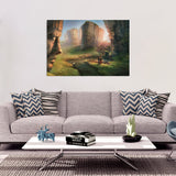 Valley of Faces Rectangular Canvas