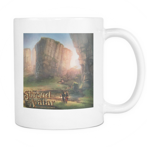 Valley of Faces White Mug