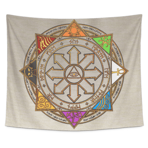 Magic Sigil Color Tapestry