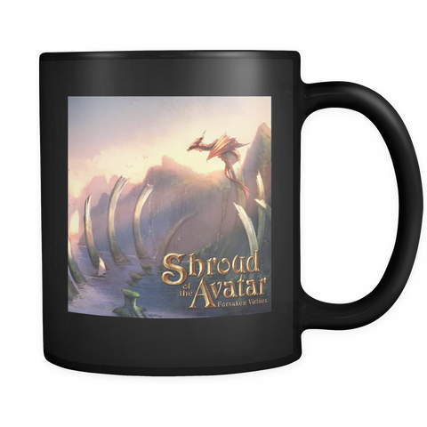 Dragon by the Sea Black Mug