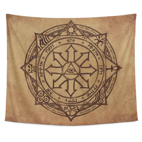 Magic Sigil Parchment Tapestry