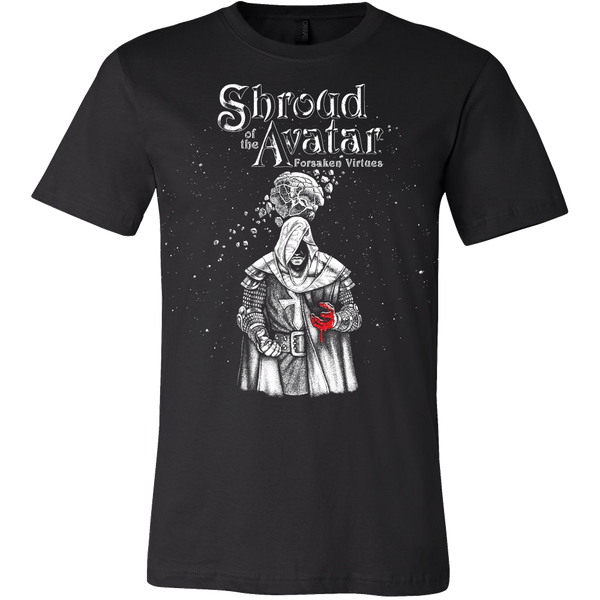 Shroud of the Avatar - Men's Cover Art Tee - Black & White Woodcut