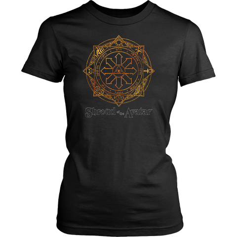 Fiery Magic Sigil Womens Tee