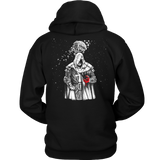 Shroud of the Avatar - Cover Art Hoodie - Black & White Woodcut