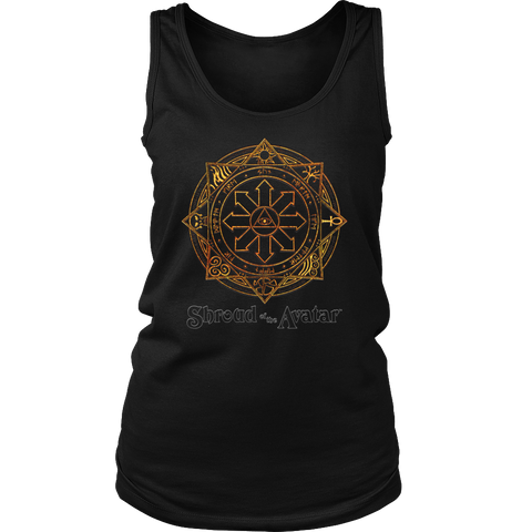 Fiery Magic Sigil Womens Tank Top