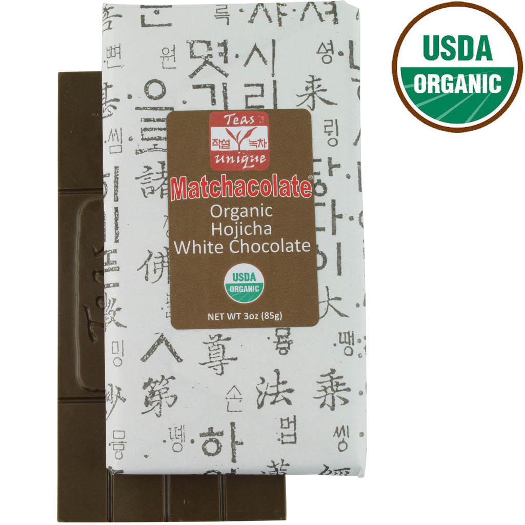 Matchacolate Organic Hojicha Chocolate Bar, 3oz (85g)