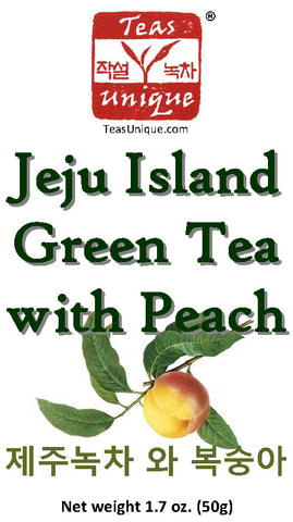 Jeju Island Green Tea with Peach