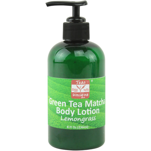 Green Tea Matcha Body Lotion, Lemongrass Scent, 8 Fl Oz