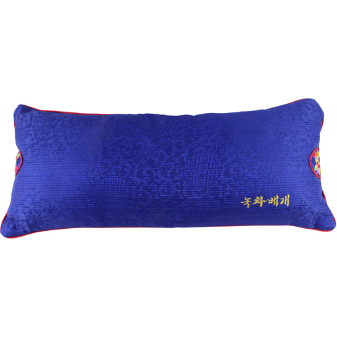 Korean Traditional Pillow with Green Tea Filling, Blue Cover