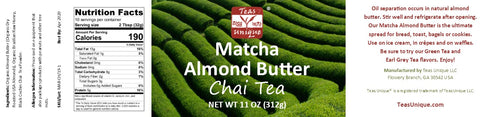 Chai Tea Matcha Almond Butter (11 Ounce)