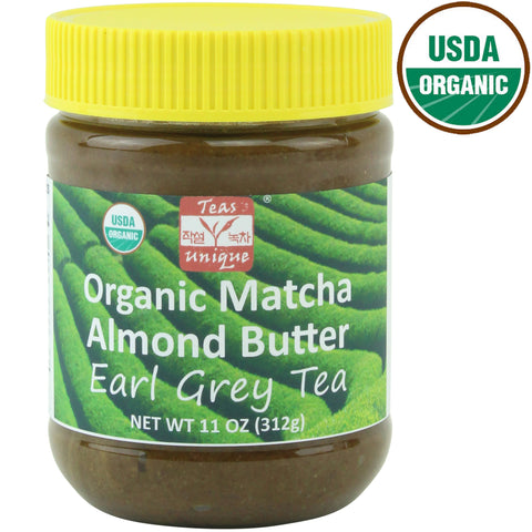 Organic Earl Grey Tea Matcha Almond Butter (11 Ounce)