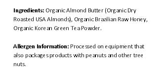 Organic Green Tea Matcha Almond Butter (11 Ounce)