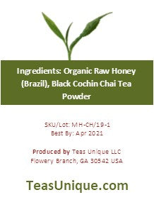 Raw Honey with Cochin Chai Tea Matcha, 215g