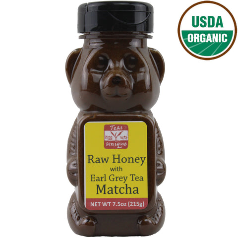 Organic Raw Honey with Earl Grey Tea Matcha, 215g
