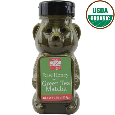 Organic Raw Honey with Green Tea Matcha, 215g