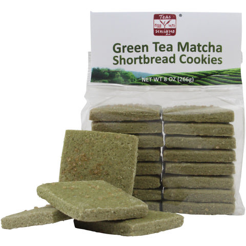 Green Tea Matcha Shortbread Butter Cookies, 8oz