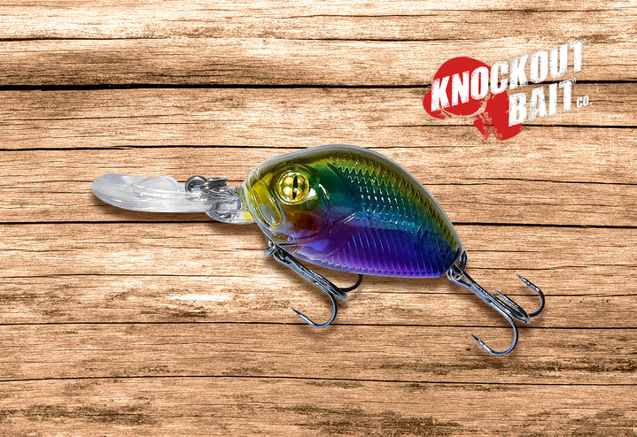 Knockout Baits The Jab is a small, finesse crankbait with a diving lip and treble hooks.