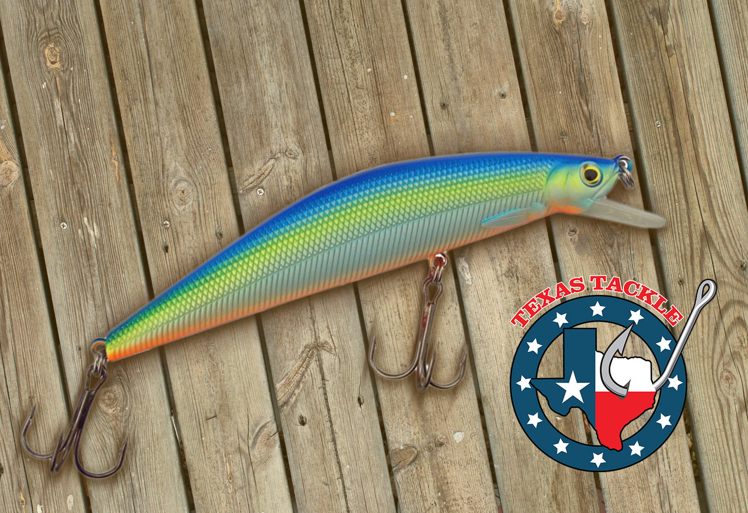 Texas Tackle Jacksonville Jerk is the jerkbait pictured that was included in the Lucky Tackle Box subscription box.