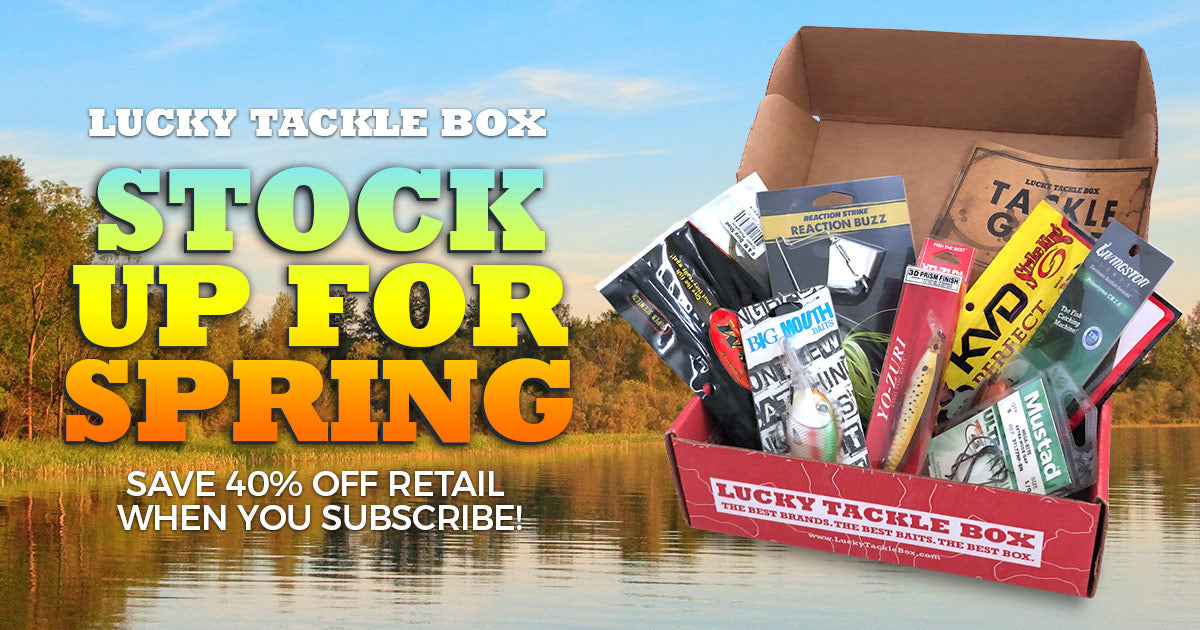 Lucky tackle box the 1 rated monthly fishing for Monthly fishing subscription boxes