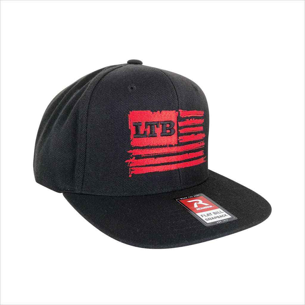 LTB Flag Hat - Black Red – LUCKY TACKLE BOX 635d8ba70732