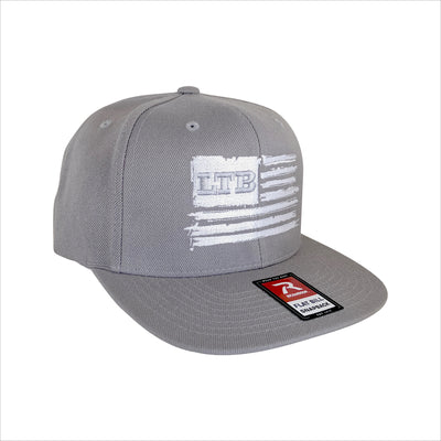 LTB Flag Hat - Gray/White