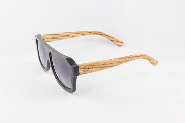 Straight Face Black Bamboo & Zebra Wood