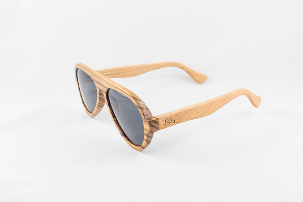 Birch & Zebra Wood Aviators