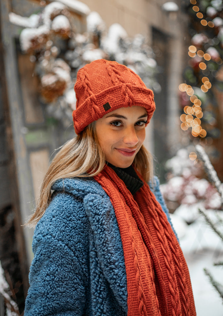 La tuque tressée / The Braided Knit Beanie