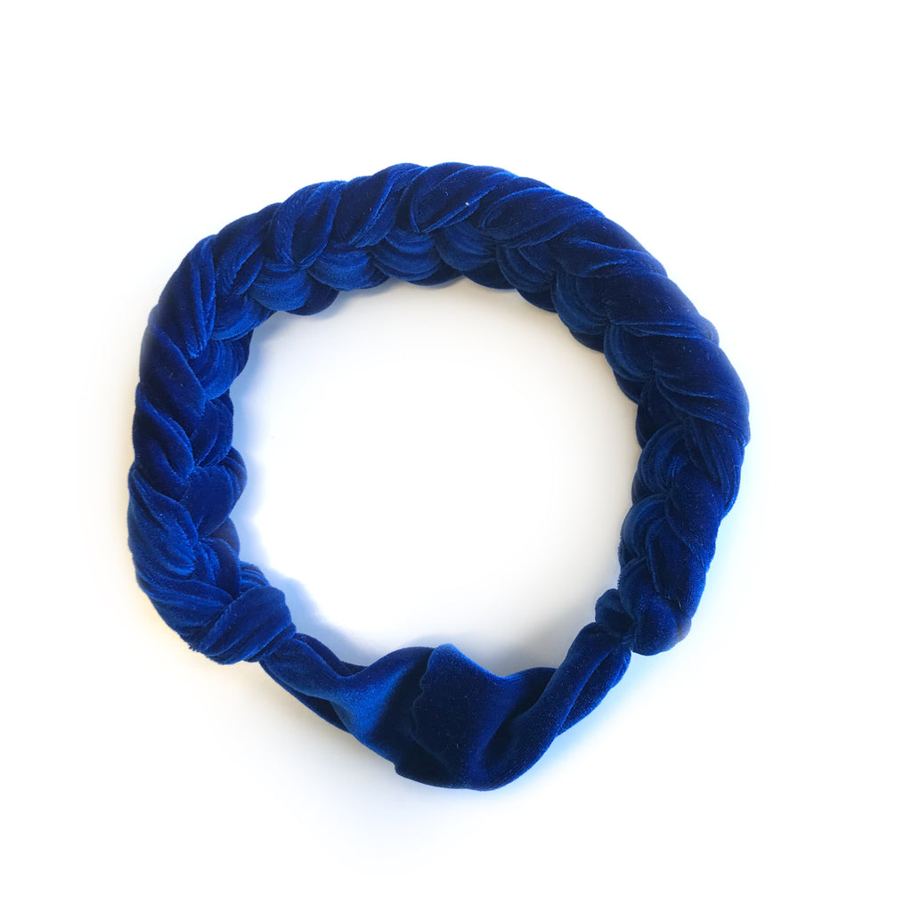 Le bandeau tressé en velours / The Velvet Braided Headband