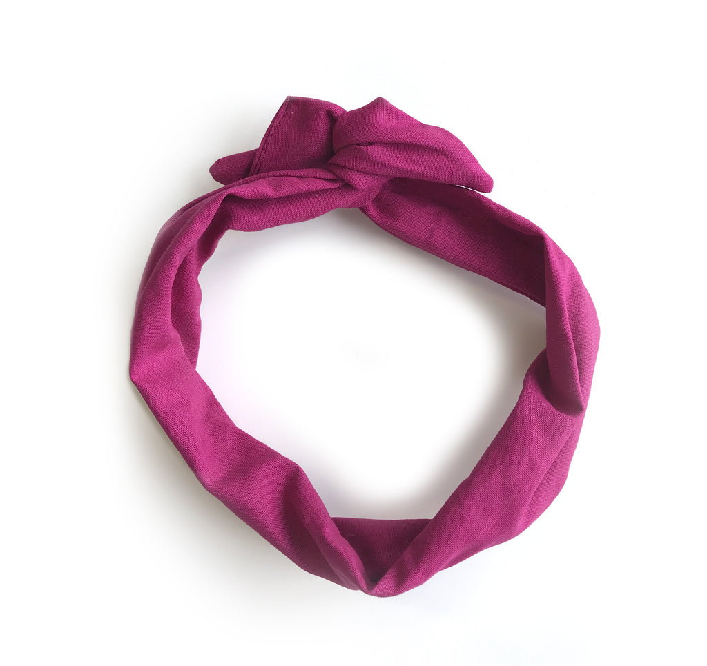 Le torsadé en lin / The Linen Twisted Headband