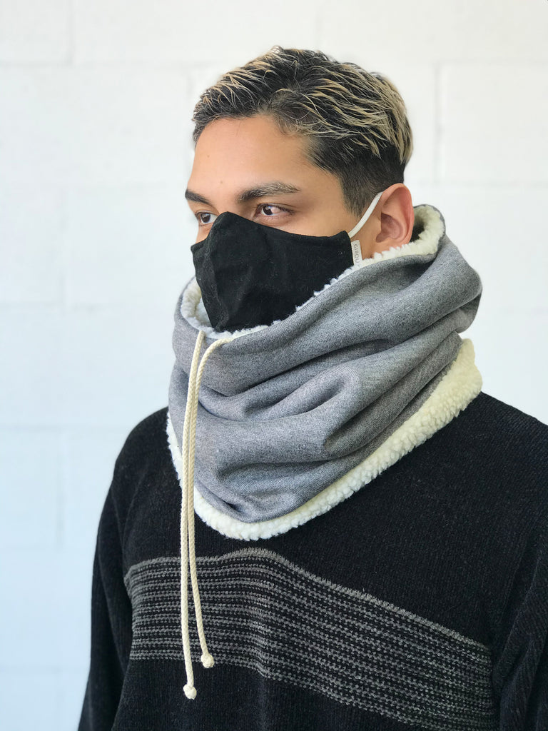 Le col capuche réversible Dinel / The Reversible Dinel Hooded Neckwarmer