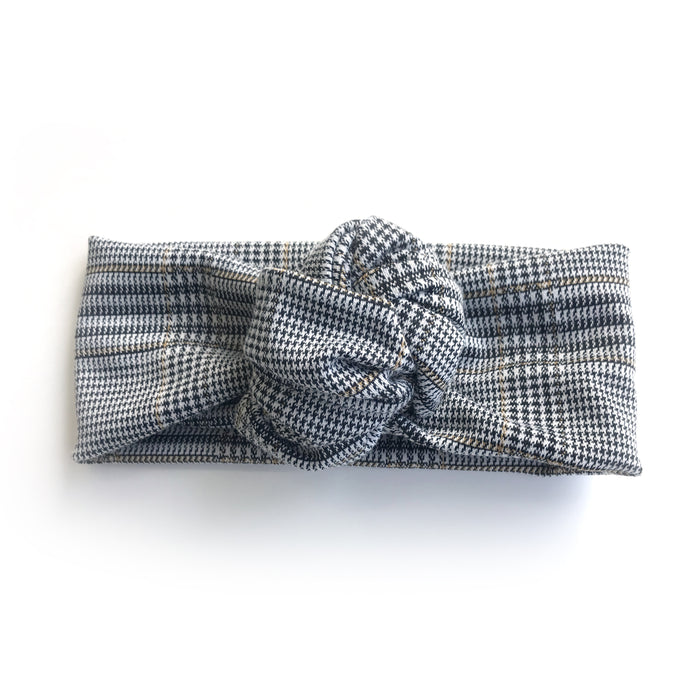 Le bandeau à noeud édition Petit Tartan / The Knotted Headband Little Tartan Edition