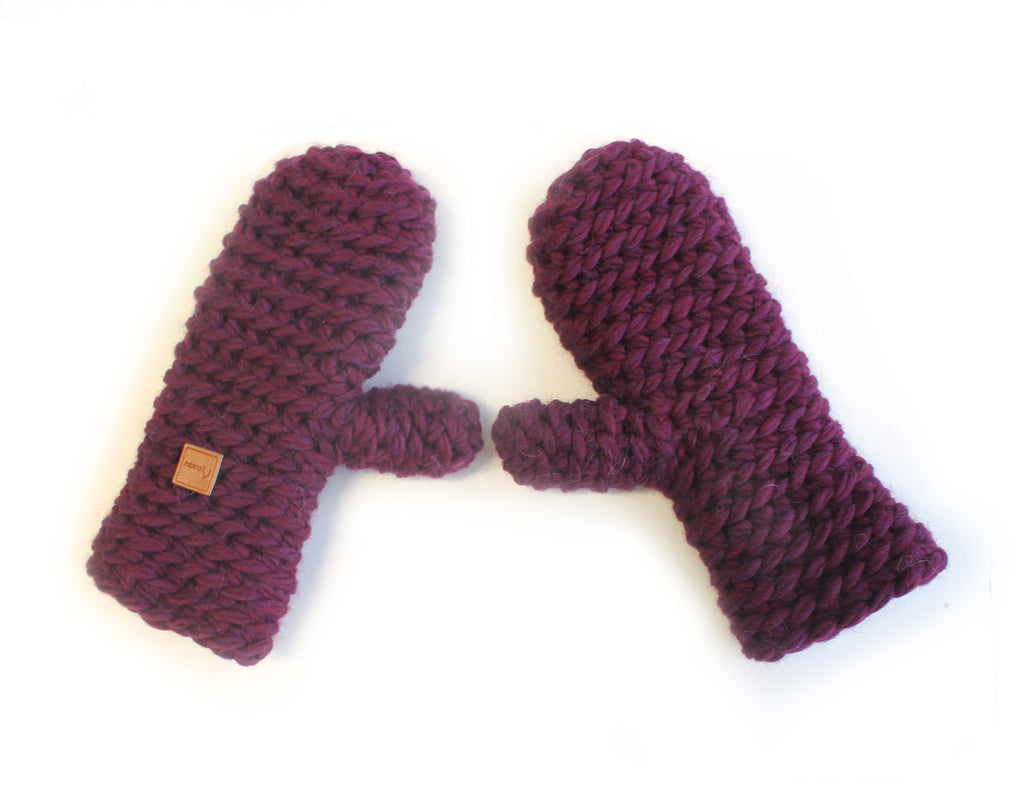 "Les mitaines ""juste-de-la-laine"" / The ""Only Wool"" Mittens"