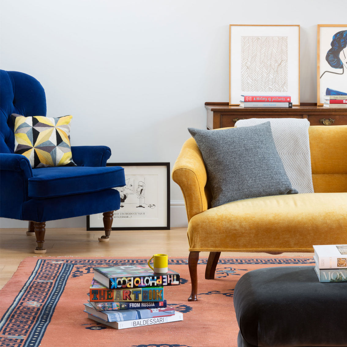 Jewel Colours in an Oxford Home Project
