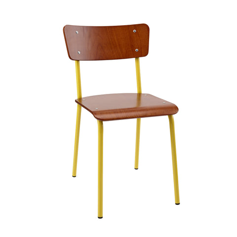 The Original Contemporary School Chair - Mahogany 9