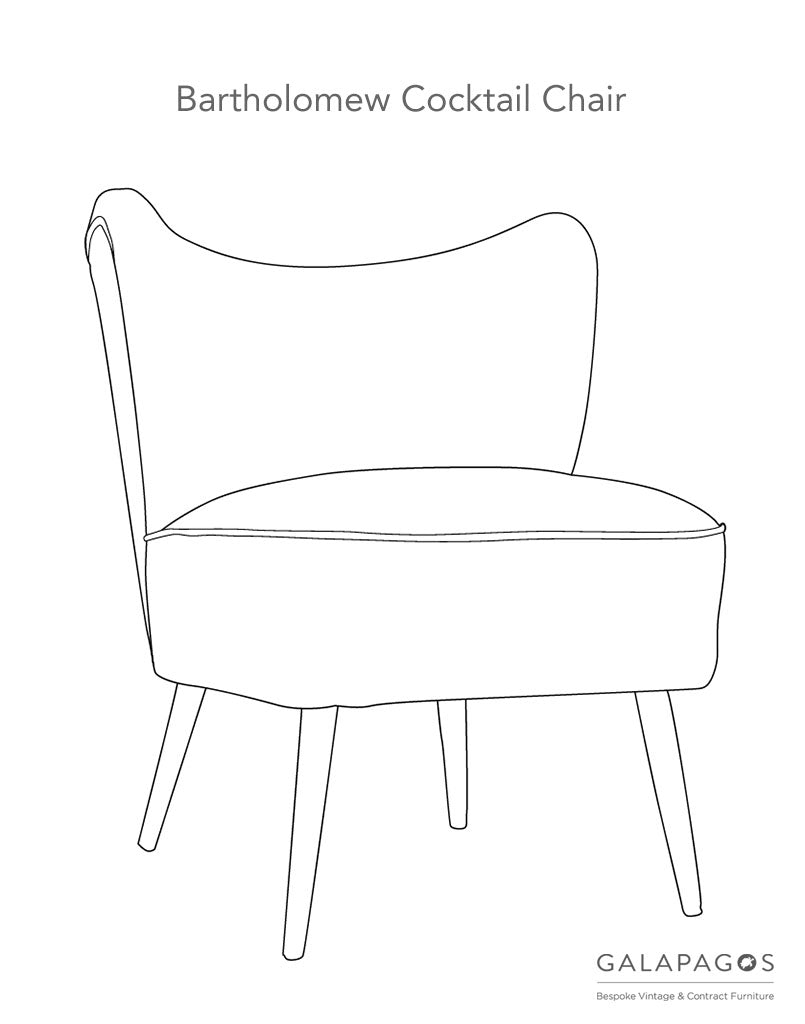 Make Your Own Bartholomew Cocktail Chair at GalapagosDesigns.com