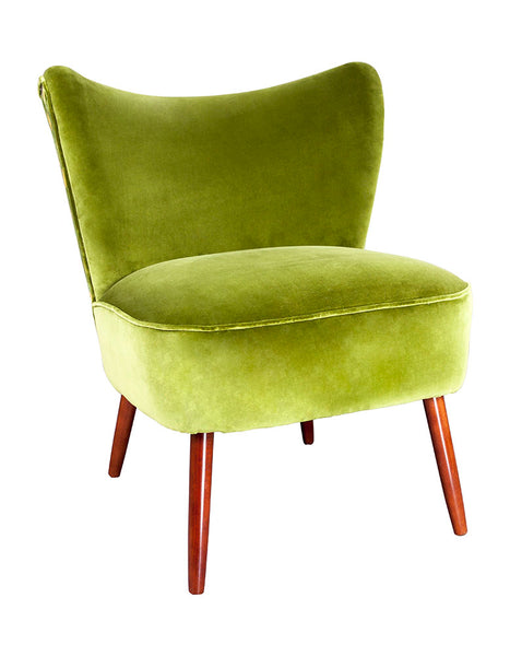 New Bartholomew Vintage Style Cocktail Chair in Larkin Velvet