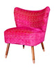 New Bartholomew Vintage Style Cocktail Chair in Frith Rose Velvet