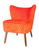 New Bartholomew Vintage Style Cocktail Chair in Orange Bakerloo Velvet