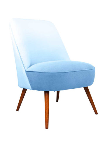 New Slipper Cocktail Chair in Cobalt Blue Linen