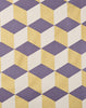Fabric Swatch - Korla Cubes in Indigo and Gold