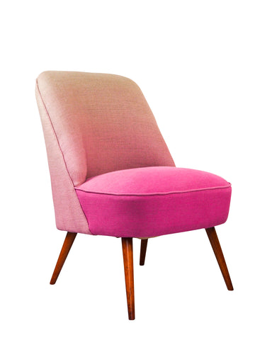 New Slipper Cocktail Chair in Padua Blossom Linen