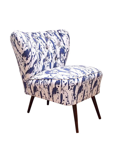 The Bartholomew Chair in Splatter Ink Blue