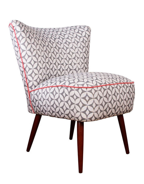 Galapagos Bartholomew Chair in Quadric Steel with Coral Piping