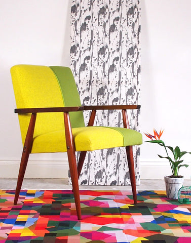 Midcentury Frame Armchair in Two Tone Green