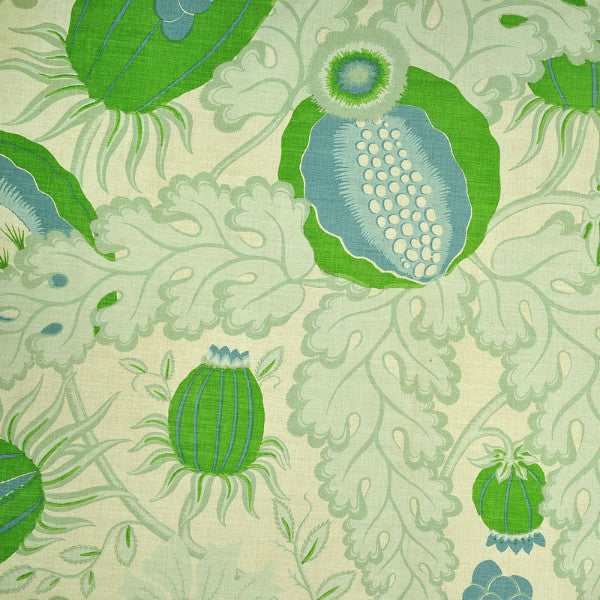 Free Fabric Samples at Galapagos - Christopher Farr Carnival Green